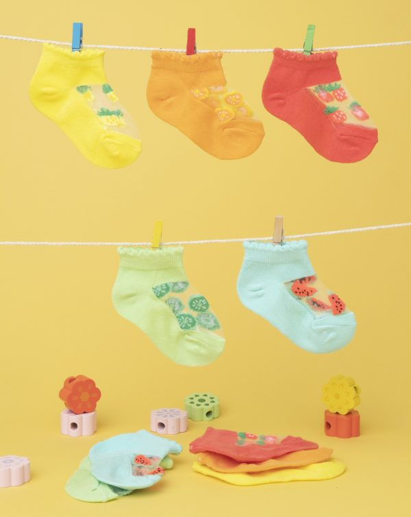 Pack 5 calcetines bebé multicolor fruit - Prenatal 2