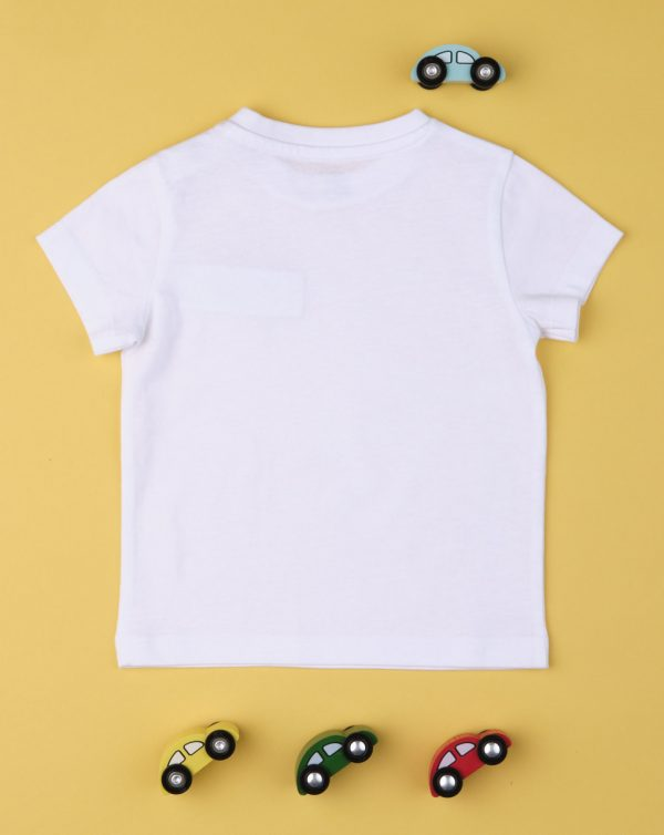 """Camiseta de niño con pequeño bolsillo """"Blanco"""" - Prenatal 2"""