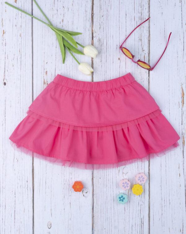 Falda de volantes rosa chillón - Prénatal