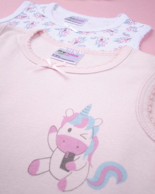 """Pack 2 bodis de niña """"Unicornio"""" - Prénatal"""