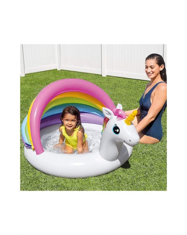 Intex - Piscina de unicornio para bebé 127x102x69 cm - Intex