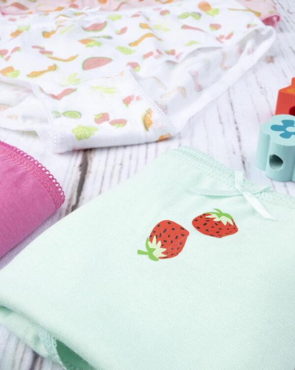 """Pack 7 braguitas de niña """"Fruit"""" - Prénatal"""
