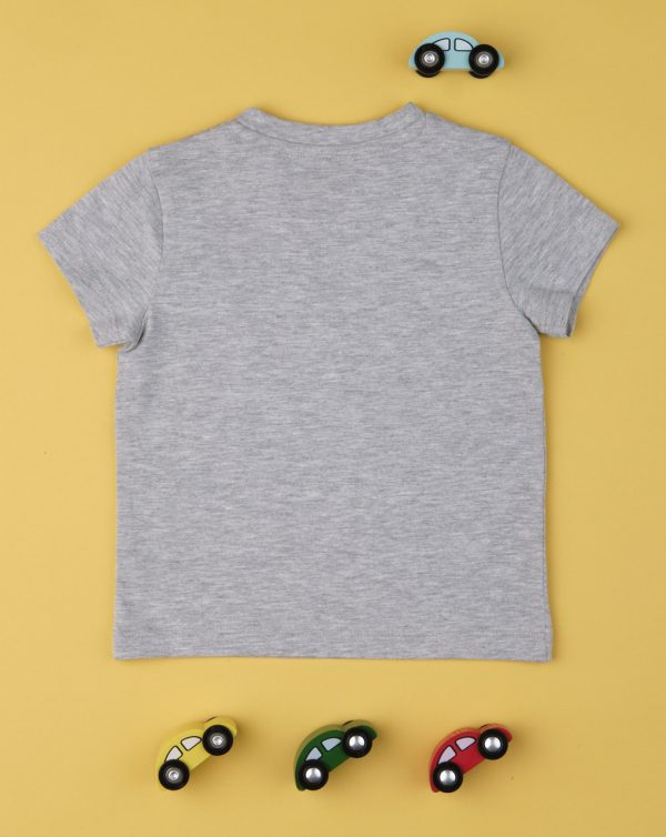"Camiseta de niño con pequeño bolsillo ""Gris"" - Prenatal 2"