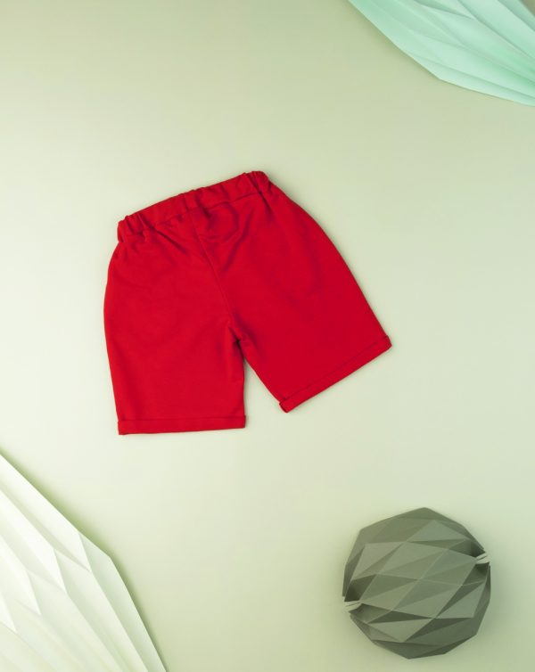 Bermudas kid boy rojo liso - Prénatal