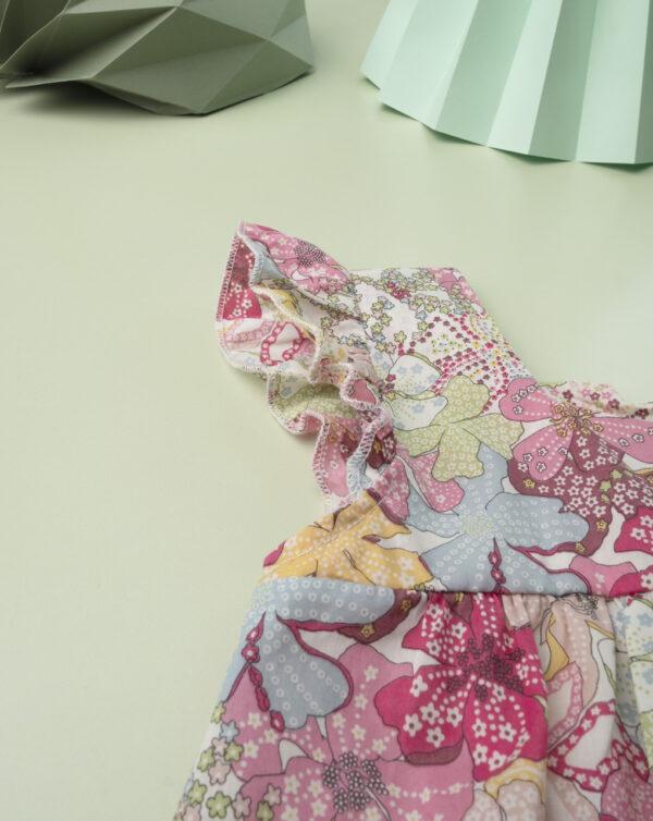 """Vestido kid girl """"Sweet Flower"""" en tejido liberty - Prénatal"""