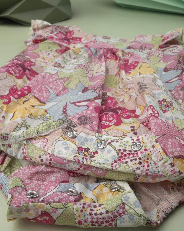 """Ranita para recién nacido """"Sweet Flower"""" allover en tejido liberty - Prénatal"""