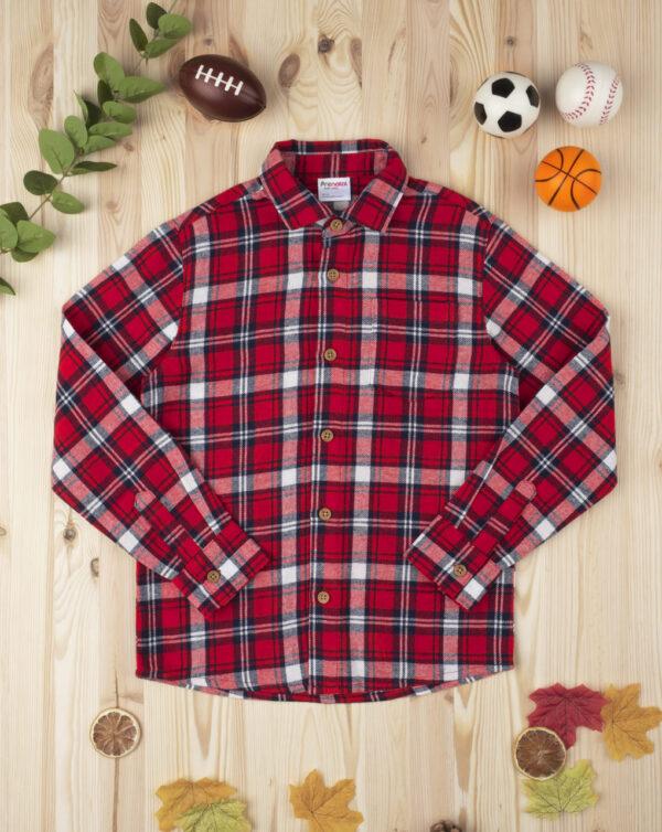 Camisa escocesa kid boy roja - Prénatal