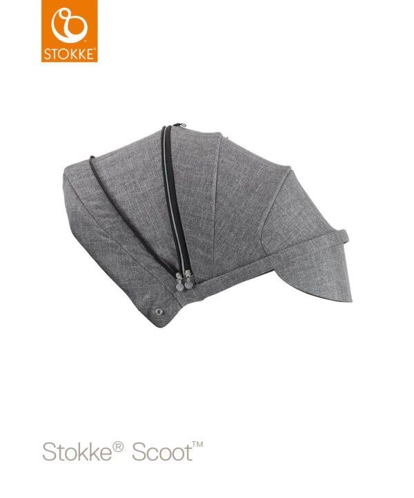 CAPOTA SCOOT BLACK MELANGE - Stokke