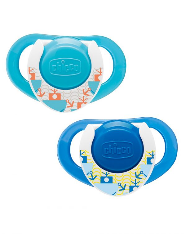 PACK 2 CHUPETES COMPACT LÁTEX AZULES +12MESES - Chicco