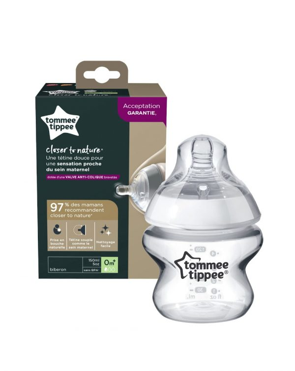 TOMMEE TIPPEE - BIBERÓN CLOSE TO NATURAL 150ML FLUJO LENTO - Tommee tippee