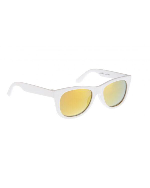 Gafas de sol de goma blanca con lentes de espejo - Monkey Monkey