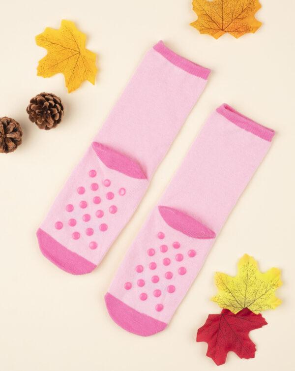 Calcetines antideslizantes niña rosa con animalitos - Prénatal