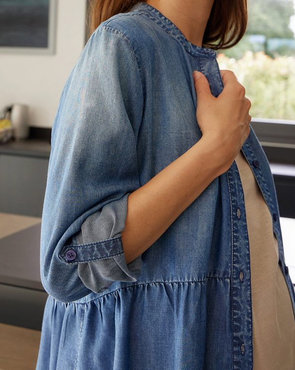 Camisa larga premamá y lactancia de lyocell - Prénatal