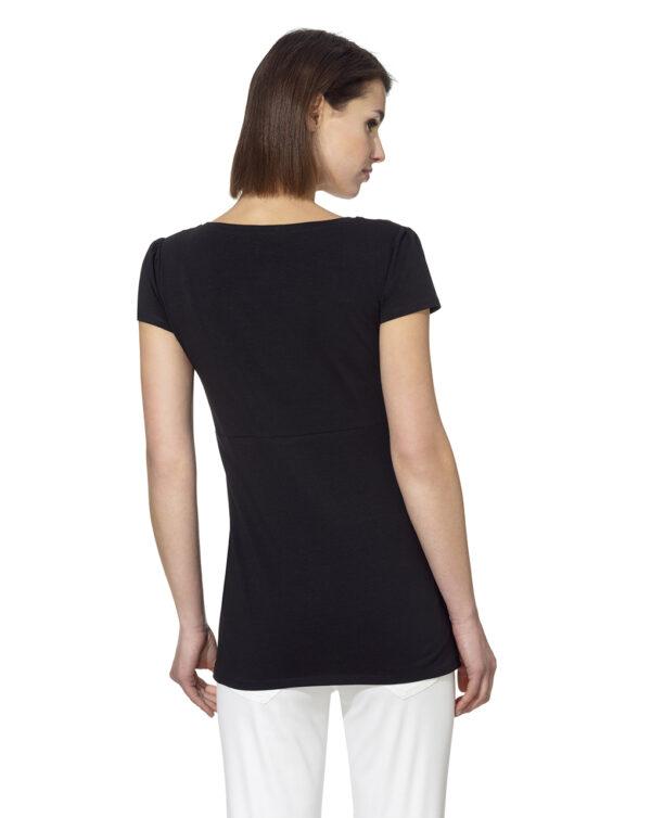 Camiseta de lactancia de punto jersey de algodón - Prénatal