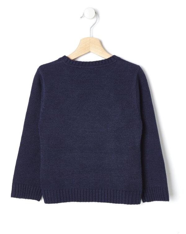 Jersey de punto azul con Papá Noel - Prénatal