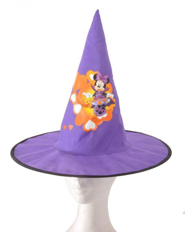 Sombrero cónico de tejido básico para Halloween con motivo Mickey/Minnie - Ciao