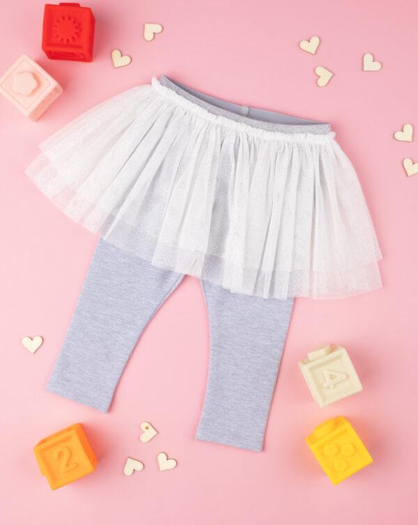 Leggings con falda gris y blanco baby - Prénatal