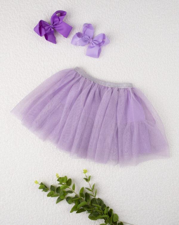 """Falda lila """"Tul"""" de niña - Prénatal"""