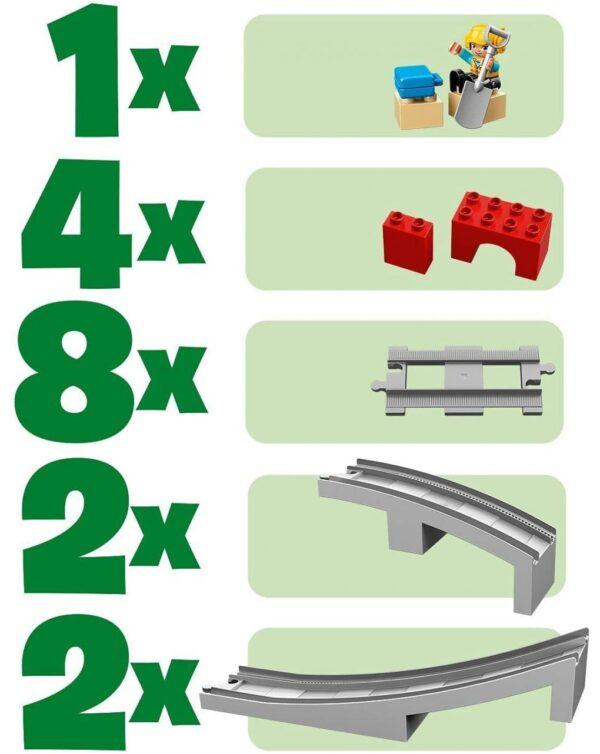 LEGO DUPLO Puente y vías ferroviarias - 10872 - LEGO DUPLO