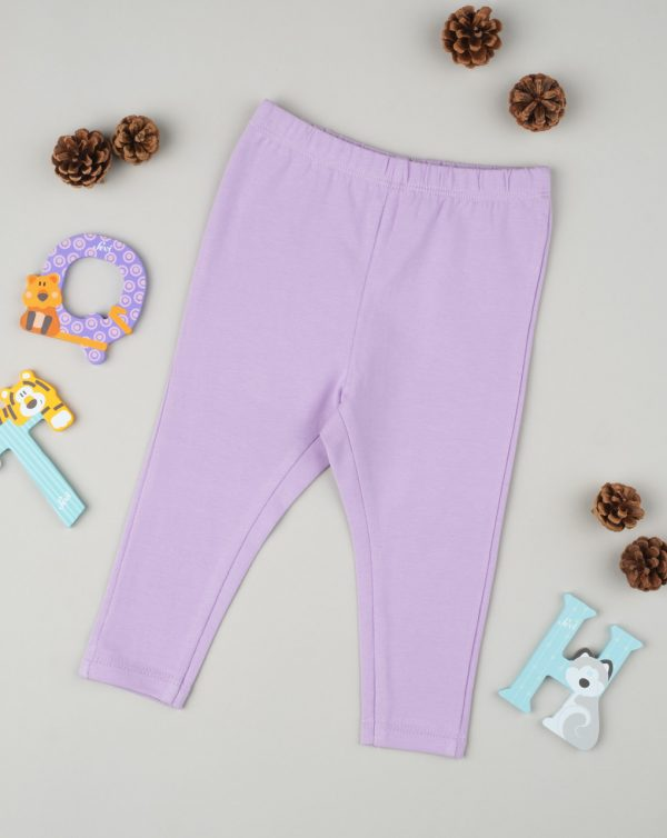 Leggings de niña lila - Prénatal