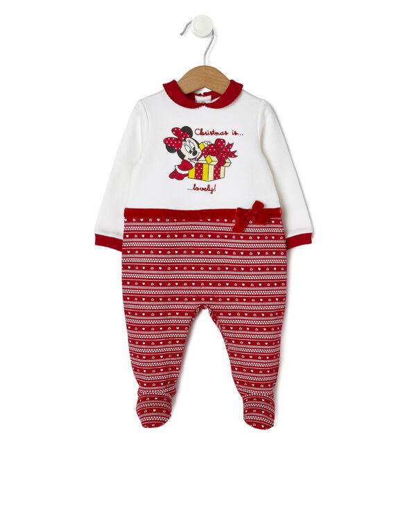 Pelele de Navidad crema y rojo con Minnie - Prénatal