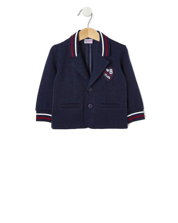 Veste blazer en jersey punto milano avec écusson - Prénatal