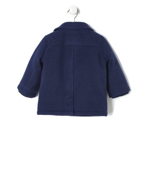 Duffle-coat en tissu bleu - Prénatal
