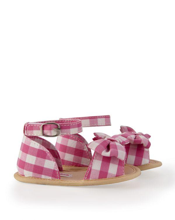 Sandales Vichy rose - Prénatal