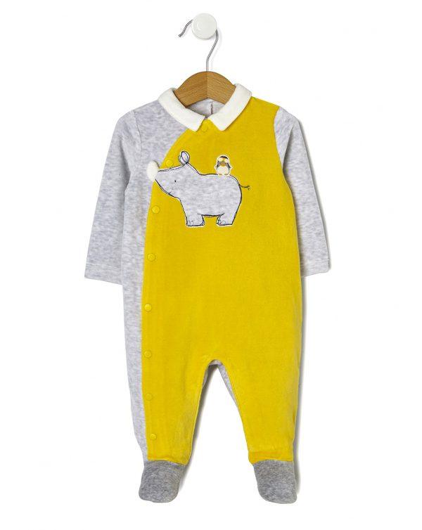 Dors-bien en chenille avec pièce rhinocéros - Prenatal 2