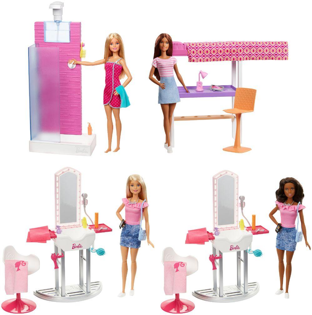 Barbie Δωμάτιο με Κούκλα 3 σχέδια DVX51