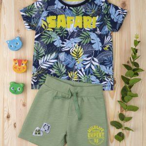 Σετ T-shirt και Σορτς Σαφάρι για Αγόρι