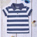 Μπλούζα Πόλο Πικέ με Ρίγες για Αγόρι