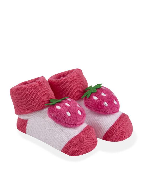Κάλτσες με Φράουλα Κουδουνίστρα για Κορίτσι