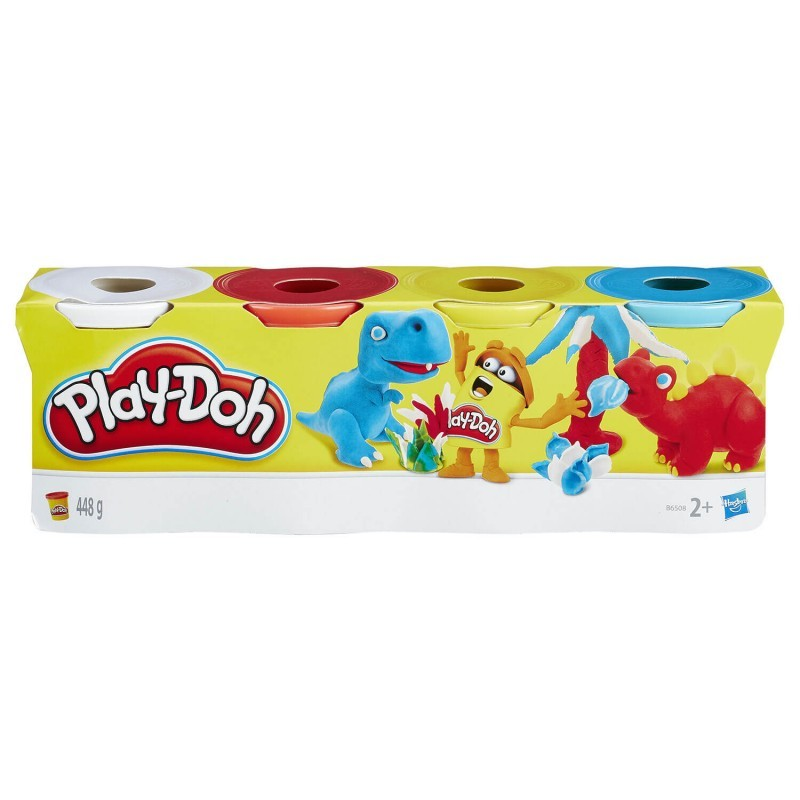 Play-Doh Classic Color 4 Βαζάκια - 3 Σχέδια B5517