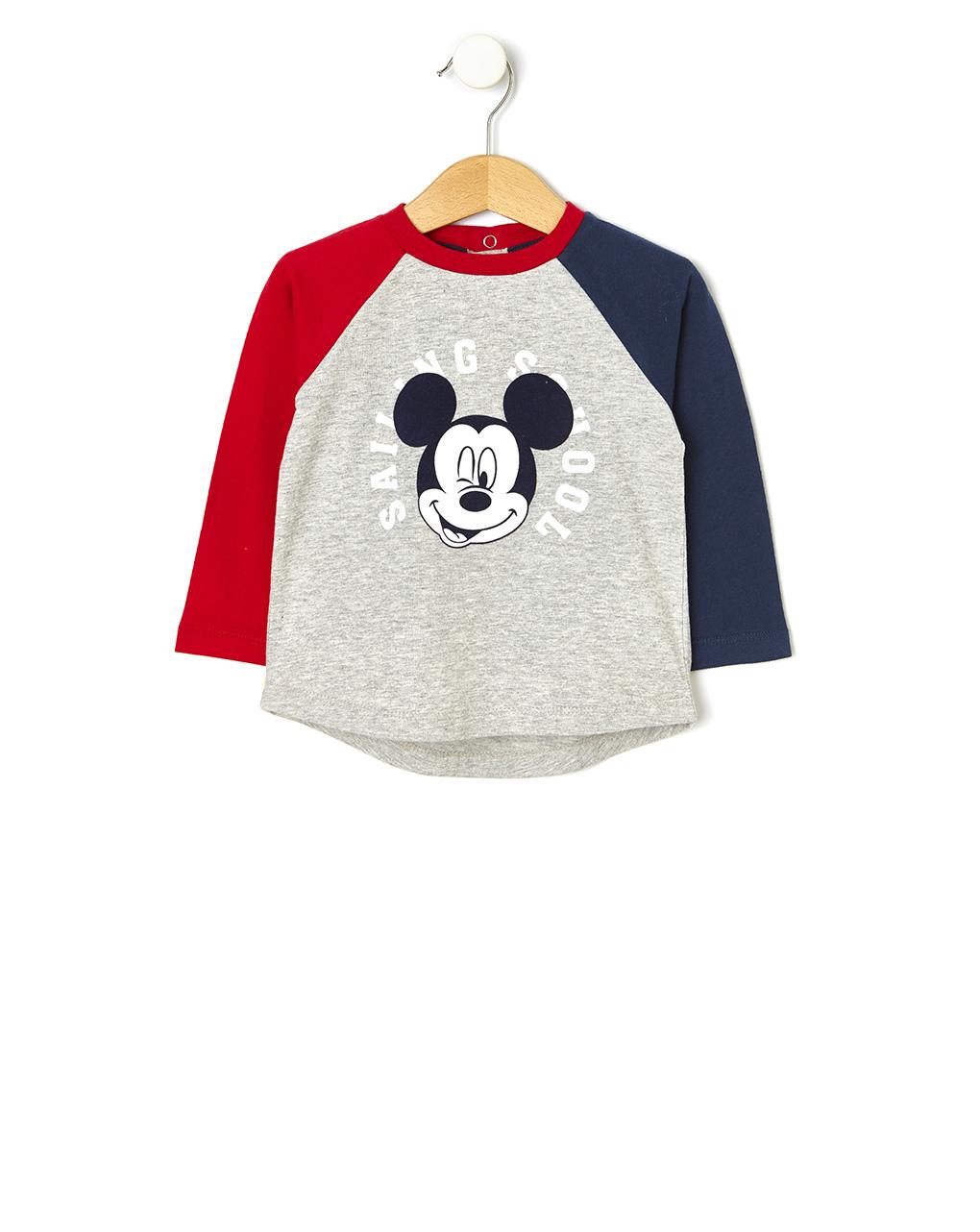 Μπλούζα Μακρυμάνικη με Στάμπα Mickey Mouse για Αγόρι