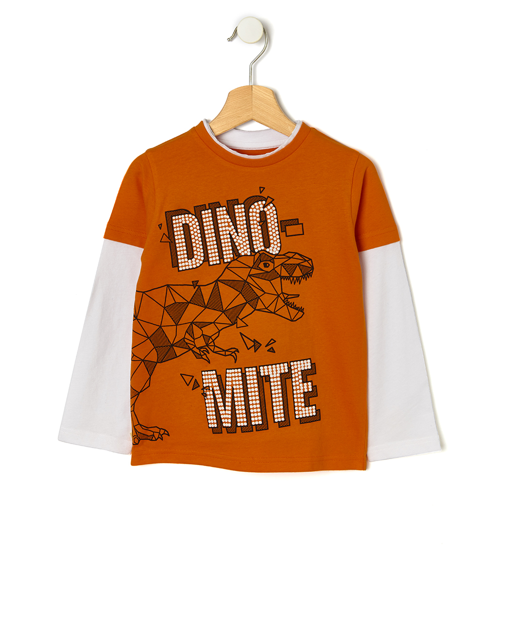 T-shirt Πορτοκαλί με Στάμπα Μεγ.8-9/9-10 ετών για Αγόρι