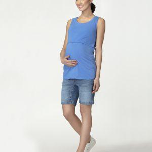 Γυναικεία Αμάνικη Μπλούζα Θηλασμού Μπλε
