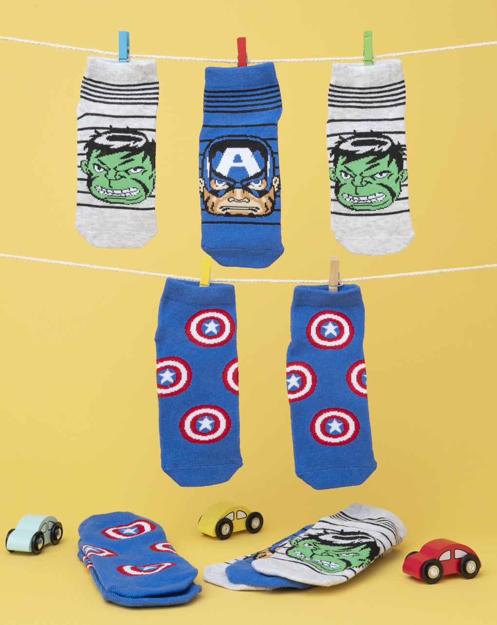 Καλτσάκια Κοντά πακέτο x5 Avengers για Αγόρι