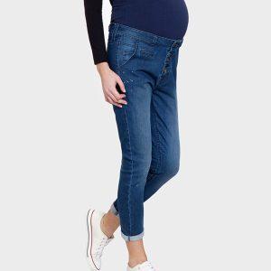 Γυναικείο Παντελόνι Εγκυμοσύνης Denim Μπλε Σκούρο