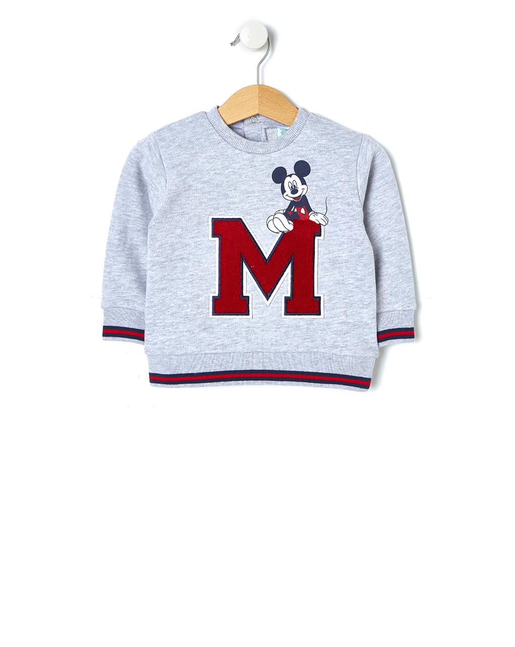 Μπλούζα Φούτερ Γκρι Mickey Mouse για Αγόρι
