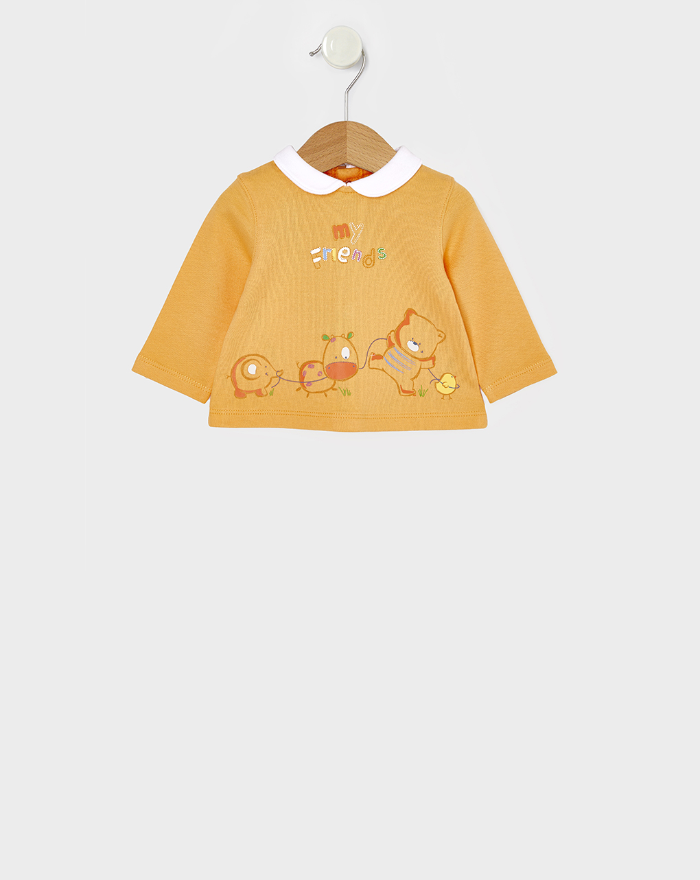 Μπλούζα Μακρυμάνικη Πορτοκάλι με Ζωάκια Unisex