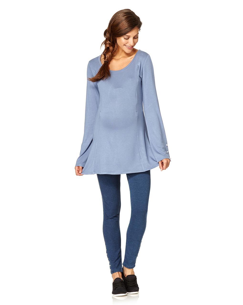 Γυναικεία Μπλούζα Θηλασμού Γαλάζια