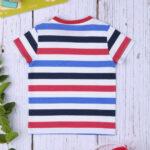 T-shirt Βαμβακερό Ριγέ Κόκκινο - Μπλε για Αγόρι