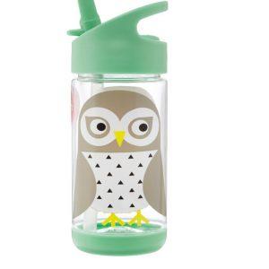 3Sprouts Παγούρι Με Καλαμάκι- Owl