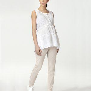 Γυναικεία Αμάνικη Μπλούζα Θηλασμού Λευκή