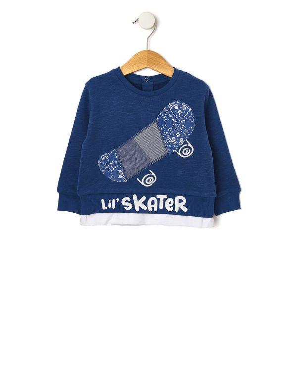 Μπλούζα Φούτερ Μπλε για Αγόρι