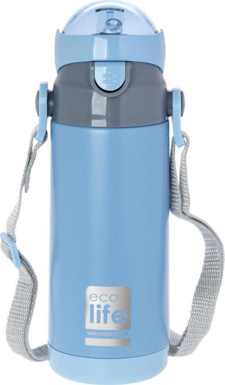Ecolife Ανοξείδωτο Παγούρι Kids Thermos 400ml-Μπλε