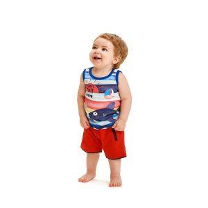Μπλούζα Αμάνικη με Στάμπα για Αγόρι