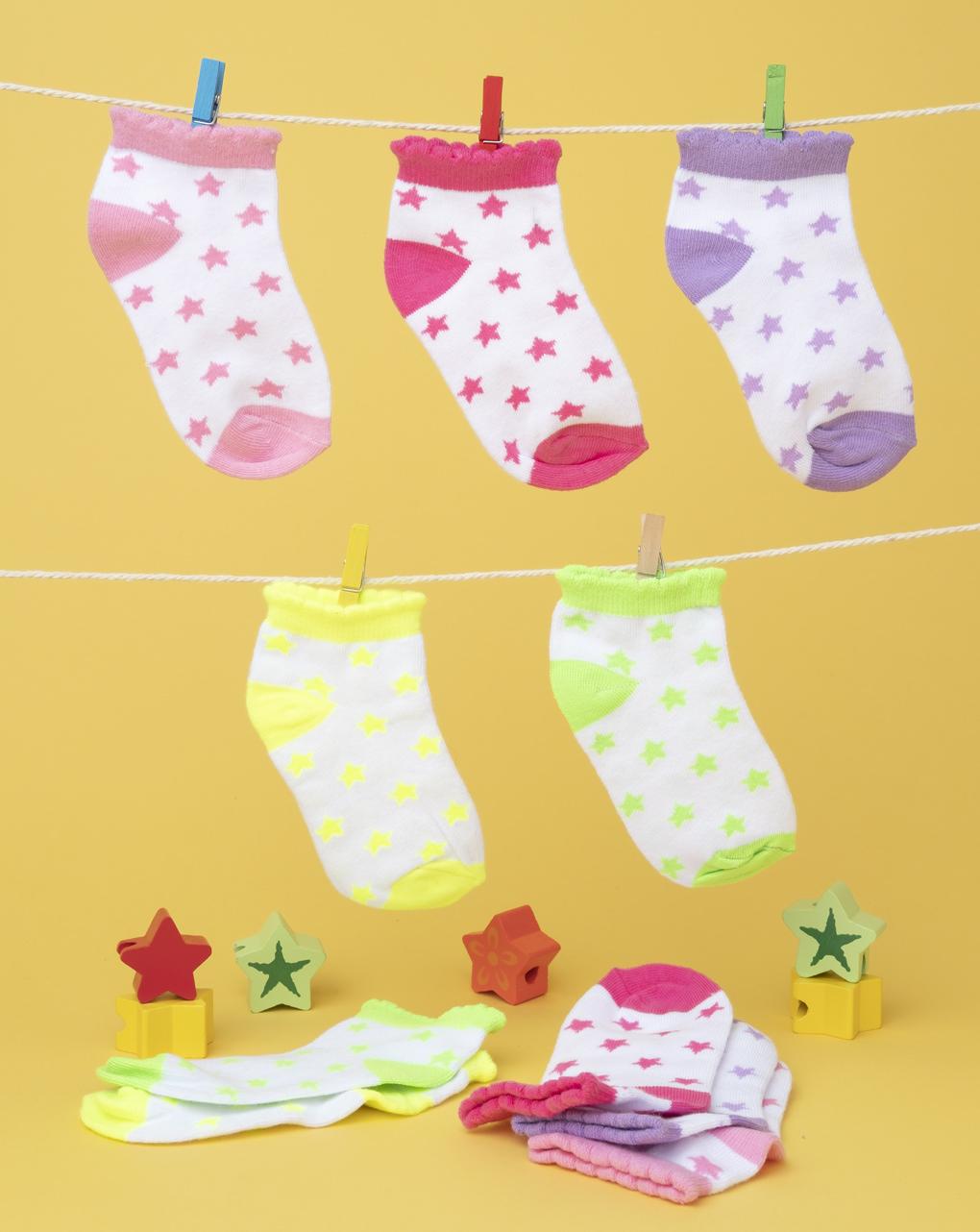 Καλτσάκια Κοντά πακέτο x5 Stars για Κορίτσι