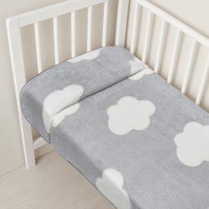 Κουβέρτα για λίκνο με συννεφάκια